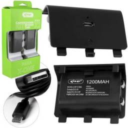 Kit 2 Baterias Cabo Carregador Para Controle Xbox One Kp-5126 Novo Garantia Frete Grátis