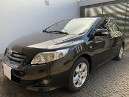 Toyota Corolla 1.8 XEI flex preto manual 2008/2009 - 2009