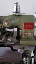Máquina de costura Overlock com mesa e motor