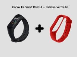 Mi Band 4 Global + Pulseira vermelha - Xiaomi