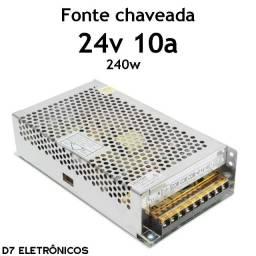 Fonte Chaveada 24v 10a 240w Bivolt Estabilizada Colméia