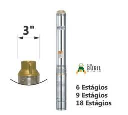 Bomba Submersa 00,33 CV 220V Monof. 3' 2 Fios Claw