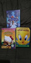 DVDs Originais Infantis : Hello Kitty, Looney Tunes e Encantada