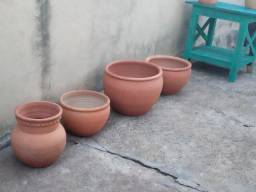 7 vasos cerâmicas novos