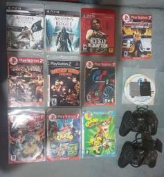 Jogos de PS3, PS2, PS1, Controles e Memory Card