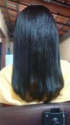 Manutenção em mega hair.
