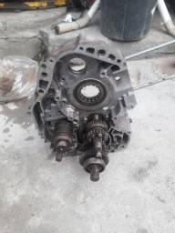 Carcaca do motor com caixa de macha