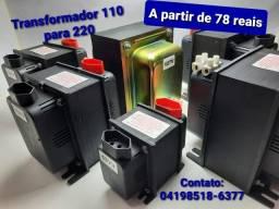 Transformador de energia 110~220 e 220~110 a partir de 78 reais