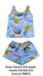 Pijama Feminino 100% Algodão estampado