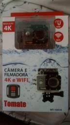 Câmera E Filmadora Esportiva Tomate 4k Wifi Controle Remoto