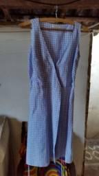 Vestido de Linho Xadrez da Richards