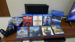 PS4 + 02 Controles + 11 jogos