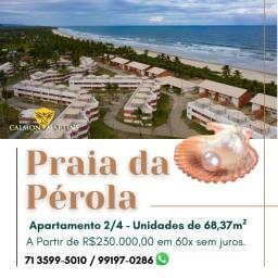 Apartamento 2/4 em 68m², Praia da Pérola Ilhéus - Espetacular