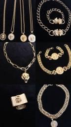 Semi joias banhadas a 1  milésimo de ouro