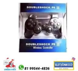 Controle PS3 Sem Fio Wireless Dualshock Vibração Recarregável só zap