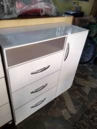 Comoda 3 gavetas 1 porta objeto novo