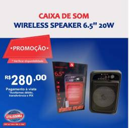 Caixa de som Wireless Speaker 6.5'' 20w ? Entrega grátis