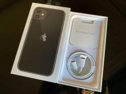Caixa IPhone 11 64gb preto c/ todos acessórios originais