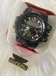Relógio Xufeng duplo marcador prova d'água