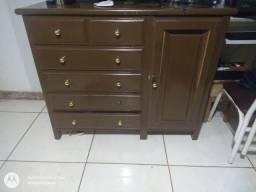 Cômoda de madeira pura  350