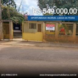 Casa 100m², frente comercial 140m², terreno 400m² a Venda, Lagoa da Pedra, Campo Magro-PR