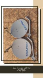 Título do anúncio: 2 Antenas Satélite aquário com suporte