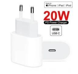 Título do anúncio: Fonte Apple Turbo 20w Para Iphone Entrada Tipo C - Premium