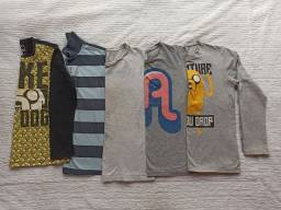Lote de camisetas infantil