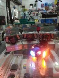 sinalizador bike lanterna bicicleta luz led recarregável usb