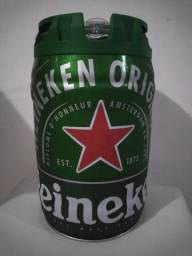 Vendo barril de cerveja Heineken 5L.
