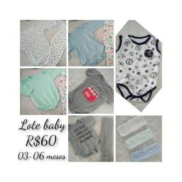 Lote bebê 03-06 meses
