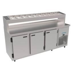Balcão condimentador 1,85 MT refrigerado pronta entrega #Guilherme
