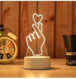 Luminária 3D coração Coreano!