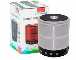 caixa de som mini speak bluetooth cartao micro sd usb radio fm ws-887