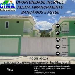 Cima Vende: Casa em condomínio na Praia do Saco, aceita Caixa e FGTS