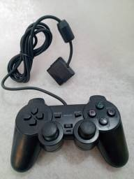 Controle Joystick Para Playstation 2 Preto Analógico Ps2