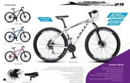Bicicleta Alumínio Aro 29 Colli 21 Marchas - semi-nova com NF<br>- Transbike e Itens