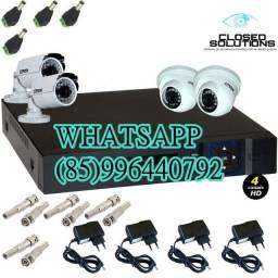 Kit 4 câmeras instalado a partir de 1400,00$