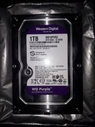 Título do anúncio: Hd Interno Wd Purple 1tera
