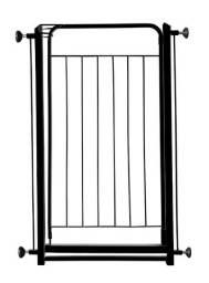 Grade Pet preta portão porta portinha portãozinho animais bebê crianças