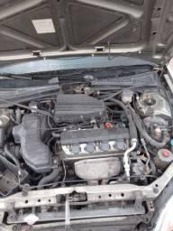 Título do anúncio: Motor parcial com cabeçote Honda Civic 1.7