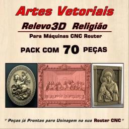 DVD Artes Vetoriais Relevo 3d Religião CNC Router 70 Peças