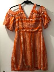 Vestido verão laranja UAU conceito