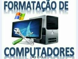 Formatação de computadores e notebooks.