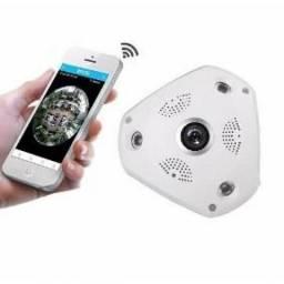 Câmera Ip Infravermelho Panorâmica 360º Wifi Lente - NOVA