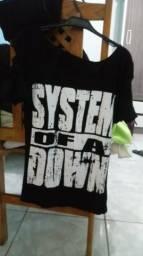 Camisa System of a Down Feminina