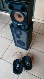2 caixa de som + 2 altos falantes +Rádio