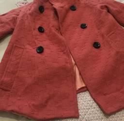 97bf250e4eb Casaco cor rosa da Zara tamanho M