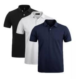 Camisa pólo para uniforme com logo bordado incluso R$ 25,00