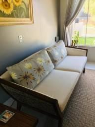Conjunto sofá 3 lugares mais poltrona
